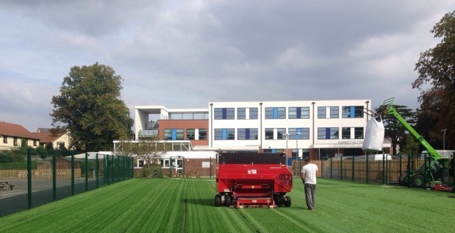 Football Pitch Installation in Cardiff